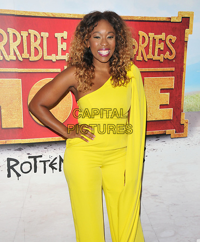 """Dominique Moore at the """"Horrible Histories: The Movie - Rotten Romans"""" world film premiere, Odeon Luxe Leicester Square, Leicester Square, London, England, UK, on Sunday 07th July 2019.<br /> CAP/CAN<br /> ©CAN/Capital Pictures"""