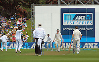BJ Watling is caught on 11 during day one of the 2nd cricket test match between the New Zealand Black Caps and Sri Lanka at the Hawkins Basin Reserve, Wellington, New Zealand on Saturday, 3 February 2015. Photo: Dave Lintott / lintottphoto.co.nz