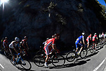 The peloton in action during the 111th edition of Il Lombardia 2017 &quot; The Race of the Falling Leaves&quot; the final monument of the season, running 247km from Bergamo to Como, Italy. 7th October 2017.<br /> Picture: LaPresse/Fabio Ferrari | Cyclefile<br /> <br /> <br /> All photos usage must carry mandatory copyright credit (&copy; Cyclefile | LaPresse/Fabio Ferrari)