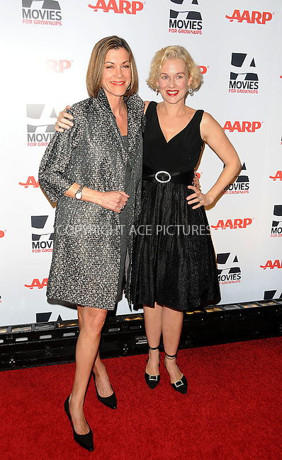 WWW.ACEPIXS.COM . . . . . ....February 7 2011, LA....Actresses Wendie Malick (L) and Penelope Ann Miller arriving at the AARP Magazine 10th Annual Movies For Grownups Awards at the Beverly Wilshire Four Seasons Hotel on February 7, 2011 in Beverly Hills, CA....Please byline: PETER WEST - ACEPIXS.COM....Ace Pictures, Inc:  ..(212) 243-8787 or (646) 679 0430..e-mail: picturedesk@acepixs.com..web: http://www.acepixs.com