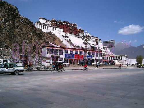 Tibet - Potala palace view
