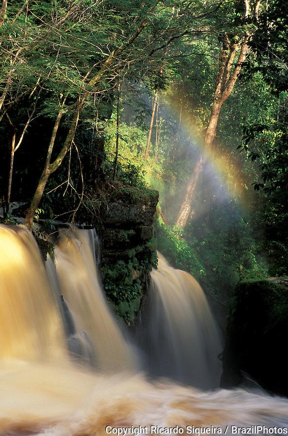 Santuario Falls ( Cachoeira do Santuario ) in the municipality of Presidente Figueiredo, Amazonas State, Amazon rainforest, Brazil.
