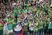 Slovenia's supporters during 2014 FIBA Basketball World Cup Quarter-Finals match.September 9,2014.(ALTERPHOTOS/Acero)
