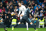 Real Madrid's forward Cristiano Ronaldo and Real Sociedad's defender Raul Navas during the match of La Liga between Real Madrid and   Real Sociedad at Santiago Bernabeu Stadium in Madrid, Spain. January 29th 2017. (ALTERPHOTOS/Rodrigo Jimenez)