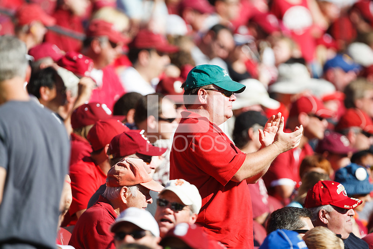STANFORD, CA -- October 27, 2012:  Fans during the Stanford vs Washington State game Saturday afternoon at Stanford Stadium.<br /> <br /> Stanford won 24-17.