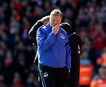 Ronald Koeman manager of Everton during the English Premier League match at Anfield Stadium, Liverpool. Picture date: April 1st 2017. Pic credit should read: Simon Bellis/Sportimage