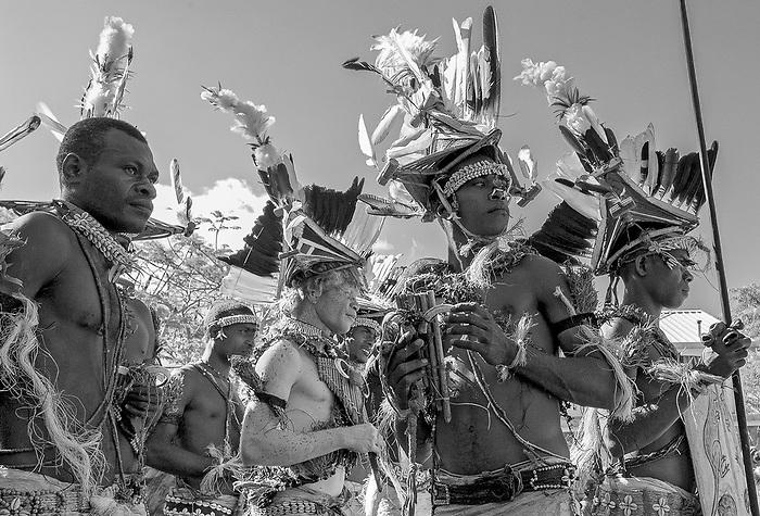 Danseurs de Papouasie Nouvelle-Guinée