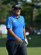 Bethesda, MD - June 28, 2014: Patrick Reed grimaces after his second shot on hole 17 goes wide during the   third round of play at the Quicken Loans National at the Congressional Country Club in Bethesda, MD, June 28, 2014.  (Photo by Don Baxter/Media Images International)
