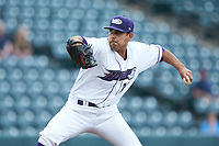 Winston-Salem Dash starting pitcher Cristian Castillo (29) in action against the Lynchburg Hillcats at BB&T Ballpark on May 9, 2019 in Winston-Salem, North Carolina. The Dash defeated the Hillcats 4-1. (Brian Westerholt/Four Seam Images)
