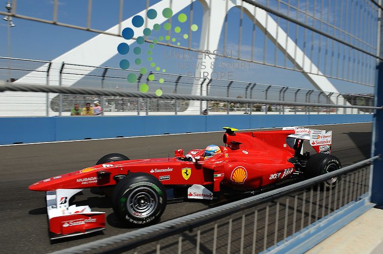F1 GP of Europe, Valencia 24.- 27. June 2010.Fernando Alonso (ESP),  Scuderia Ferrari ..Picture: Hasan Bratic/ Universal News And Sport (Europe) 26 June 2010.