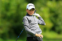 Charlie Mooney (Ballinasloe) on the 1st tee during the Connacht U12, U14, U16, U18 Close Finals 2019 in Mountbellew Golf Club, Mountbellew, Co. Galway on Monday 12th August 2019.<br /> <br /> Picture:  Thos Caffrey / www.golffile.ie<br /> <br /> All photos usage must carry mandatory copyright credit (© Golffile | Thos Caffrey)