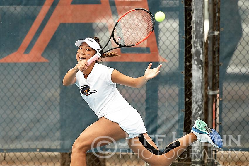 SAN ANTONIO, TX - MARCH 12, 2019: The University of Texas at San Antonio Roadrunners defeat the Missouri State University Bears 6-1 at the UTSA Tennis Center. (Photo by Jeff Huehn)