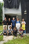 Workers at the pilot project farm involving maggot production in village Kundang, at the outskirts of capital Kuala Lumpur, Malaysia.