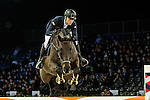 Max Kuhner of Austria riding on Cornet Kalua competes during the EEM Trophy, part of the Longines Masters of Hong Kong on 10 February 2017 at the Asia World Expo in Hong Kong, China. Photo by Marcio Rodrigo Machado / Power Sport Images