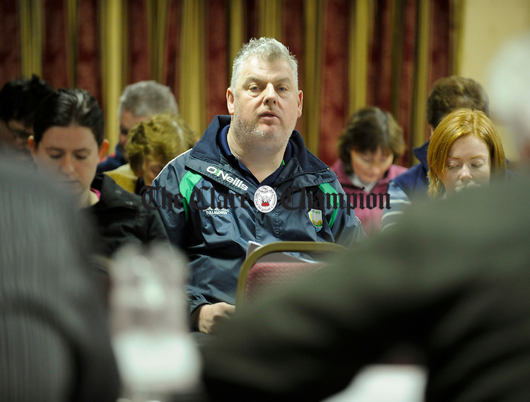 New Clare Ladies Redgistrar James Lafferty at the Clare Ladies Football AGM in the West County Hotel. Photograph  by John Kelly.