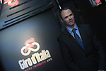 Defending Champion Christopher Froome (GBR) at the Presentation of the Grand Start of the 102nd edition of the Giro d'Italia 2019 held in the RAI TV studios, Milan, Italy. 31st October 2018.<br /> Picture: LaPresse/Fabio Ferrari | Cyclefile<br /> <br /> <br /> All photos usage must carry mandatory copyright credit (&copy; Cyclefile | LaPresse/Fabio Ferrari)