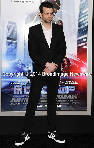Pictured: Jay Baruchel<br /> Mandatory Credit &copy; Joseph Gotfriedy/Broadimage<br /> Robocop - Los Angeles Premiere - Arrivals<br /> <br /> 2/10/14, Hollywood, California, United States of America<br /> <br /> Broadimage Newswire<br /> Los Angeles 1+  (310) 301-1027<br /> New York      1+  (646) 827-9134<br /> sales@broadimage.com<br /> http://www.broadimage.com