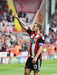 Sheffield United VS Barnsley FC EFL CHAMPIONSHIP <br /> Saturday 19th August 2017, Bramall Lane Sheffield<br /> <br /> BILLY SHARP OF SHEFFIELD UNITED PEELS AWAY IN CELEBRATION OF HIS GOAL IN THE 33RD MINUTE FOR SHEFFIELD UNITED <br /> <br /> Picture - Alex Roebuck / www.alexroebuck.co.uk