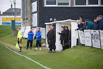 The coaching staff and substitute players watching the action at Bellslea Park, during Fraserburgh's Highland League fixture against visitors Strathspey Thistle. Nicknamed 'The Broch,' Fraserburgh have been members of the Highland League since 1921 having been formed 11 years earlier. The match ended in a 2-2 draw in front of a crowd of 302.