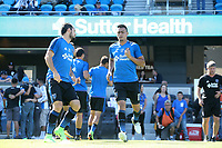 San Jose, CA - Saturday July 29, 2017: Marco Ureña, Darwin Ceren prior to a Major League Soccer (MLS) match between the San Jose Earthquakes and Colorado Rapids at Avaya Stadium.