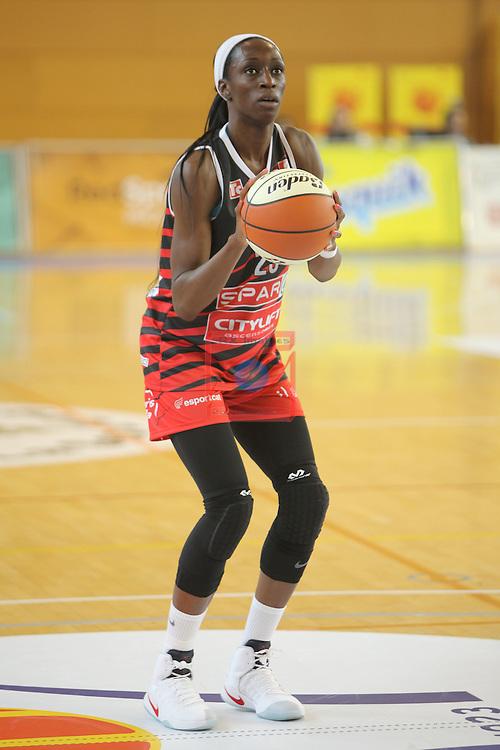 XXVIII Lliga Catalana Femenina 2016.<br /> Cadi La Seu vs Spar Citylift Girona: 71-57.<br /> Ifunanya Ibekwe.