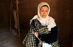 A Tunisian woman in Matmata, a small Berber village in southern Tunisia.