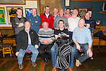 The Greyhound Bar golf society award's at the Greyhound Bar on Saturday Pictured front l-r Brian Tess, John O'Connell (Captain),Shane McCarthy (Winner),and Eddie Wall. Back l-r Jason O'Regan,Robert Miller,Colm Sheehy, Charles Erwin, Terry Nammock,Neil Dempsey and Mervin Griffin