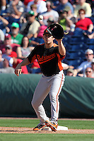 Baltimore Orioles Brandon Snyder #29 during a spring training game vs. the Philadelphia Phillies at Bright House Field in Clearwater, Florida;  March 8, 2011.  Philadelphia defeated Baltimore 4-3.  Photo By Mike Janes/Four Seam Images