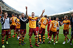 Chris Cadden and Motherwell celebrate