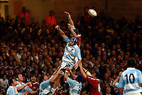 2005 British & Irish Lions vs Argentina, at The Millennium Stadium, Cardiff, WALES played on  23.05.2005, Ben Kay deflects the line out ball..Photo  Peter Spurrier. .email images@intersport-images...