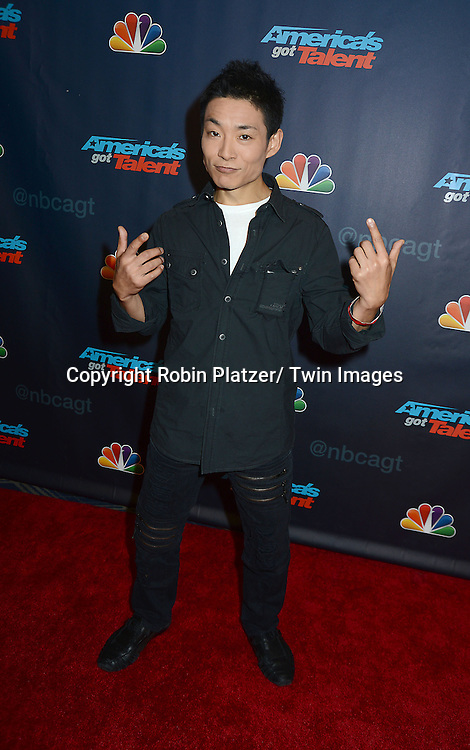 "Kenichi Ebina attends the ""America's Got Talent"" pre show red carpet on September 17, 2013 at Radio City Music Hall in New York City."