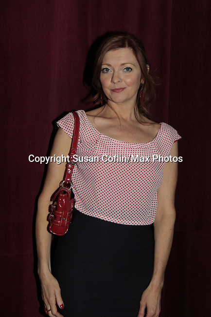 Anne Sayre - ATWT - 11th Annual Daytime Stars & Strikes Event for Autism - 2015 on April 19, 2015 hosted by Guiding Light's Jerry ver Dorn (& OLTL) and Liz Keifer at Bowlmor Lanes Times Square, New York City, New York. (Photos by Sue Coflin/Max Photos)