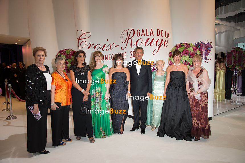 NO TABLOID Bettina Ragazzoni-Janin and Red Cross Members attend the 66th Monaco Red Cross Ball Gala at Sporting Monte-Carlo on August 1, 2014 in Monte-Carlo, Monaco.