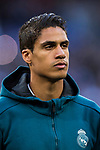 Raphael Varane of Real Madrid looks on prior to the UEFA Champions League Semi-final 2nd leg match between Real Madrid and Bayern Munich at the Estadio Santiago Bernabeu on May 01 2018 in Madrid, Spain. Photo by Diego Souto / Power Sport Images