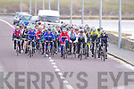 Cyclists in action coming in to Blennerville in the Lacey cup on Sunday.