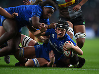 28th December 2019; Twickenham, London, England; Big Game 12 Womens Rugby, Harlequins versus Leinster; Daisy Earle of Leinster drives for the line to score a try - Editorial Use