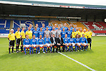 St Johnstone FC...First Team Squad 2013-14<br /> Back row from left, Scott Brown, Tom Scobbie, Gareth Rodger, Rory Fallon, Steven Anderson, Steven MacLean, Brian Easton, Gary Miller and Gwion Edwards.<br /> Middle row from left, Jocky Peebles (U20 Assistant), Ewan Peacock (U20 Coach), Fearghal Kerin (Head Physio) George Browning (U20 Goalkeeping Coach), Murray Davidson, Chris Kane, Stevie Banks, Alan Mannus, Zander Clark, David Wotherspoon, Gary McDonald, Alec Cleland (First Team Coach), Graham Kirk (Sports Scientist), Alistair Stevenson (Youth Development Manager), Tommy Campbell (Kit Manager) and Alan Lochtie (Asst Physio).<br /> Front row from left, Liam Caddis, Paddy Cregg, Chirs Millar, Dave Mackay, Tommy Wright (Manager), Callum Davidson (Assistant Manager) Frazer Wright, Nigel Hasselbaink, Stevie May and David Robertson.<br /> Picture by Graeme Hart.<br /> Copyright Perthshire Picture Agency<br /> Tel: 01738 623350  Mobile: 07990 594431