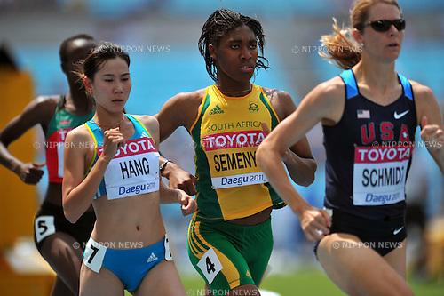 Caster Semenya (RSA),SEPTEMBER 1, 2011 - Athletics :The 13th IAAF World Championships in Athletics - Daegu 2011, Women's 800m Round 1 at the Daegu Stadium, Daegu, South Korea. (Photo by Jun Tsukida/AFLO SPORT) [0003]