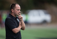 Seattle, WA - Saturday Aug. 27, 2016: Mark Parsons during a regular season National Women's Soccer League (NWSL) match between the Seattle Reign FC and the Portland Thorns FC at Memorial Stadium.