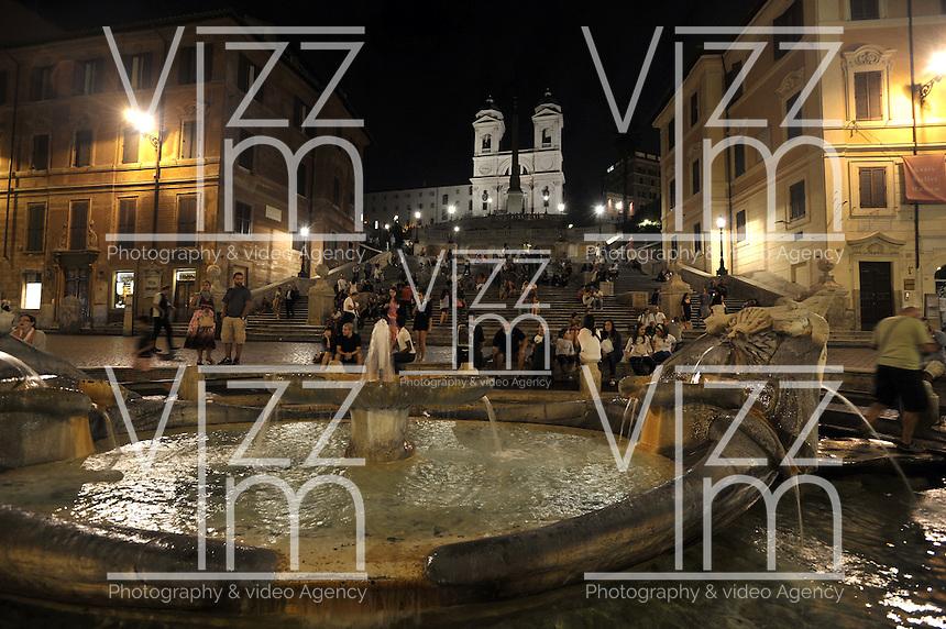 ROMA-ITALIA- 31-08-2012. Plaza España en Roma, Italia, agosto 31 de 2012. Spain Square in Rome Italy on August 31, 2012. (Photo: VizzorImage/Luis Ramirez)..