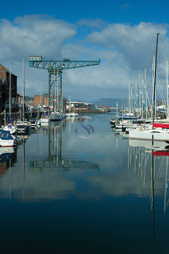 The Titan Crane and the James Watt Dock, Greenock, Inverclyde