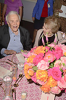 LOS ANGELES, CA - MAY 4: Kirk Douglas, Anne Douglas at the 25th Anniversary of the Anne Douglas Center at the LA Mission in Los Angeles, California May 4, 2017. Credit: David Edwards/MediaPunch