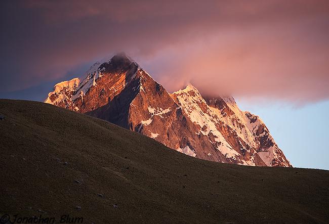 Sunset in the Huayuash, Peru