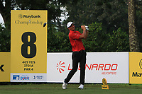 Jamie Elson (ENG) in action on the 8th tee during Round 1 of the Maybank Championship at the Saujana Golf and Country Club in Kuala Lumpur on Thursday 1st February 2018.<br /> Picture:  Thos Caffrey / www.golffile.ie<br /> <br /> All photo usage must carry mandatory copyright credit (&copy; Golffile | Thos Caffrey)