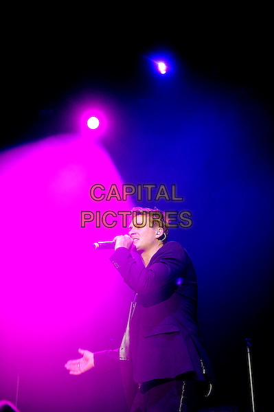 LONDON, ENGLAND - December 11: Lee Ryan of Blue performs in concert at the o2 Arena on December 11, 2013 in London, England<br /> CAP/MAR<br /> &copy; Martin Harris/Capital Pictures