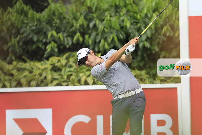 Sang-Moon Bae (KOR) on the 5th tee during Round 4 of the CIMB Classic in the Kuala Lumpur Golf &amp; Country Club on Sunday 2nd November 2014.<br /> Picture:  Thos Caffrey / www.golffile.ie