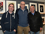 Tommy McDermott,  Joe McDermott and Philip Murray pictured at the opening of Mid-Louth Camera Club exhibition in the Market House Dunleer. Photo: Colin Bell/pressphotos.ie