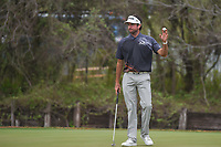 Bubba Watson (USA) after sinking the match winning putt during day 5 of the World Golf Championships, Dell Match Play, Austin Country Club, Austin, Texas. 3/25/2018.<br /> Picture: Golffile | Ken Murray<br /> <br /> <br /> All photo usage must carry mandatory copyright credit (&copy; Golffile | Ken Murray)
