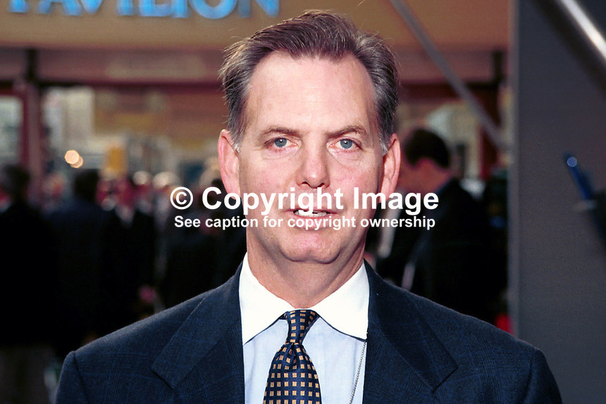 Blair Hall, Diplomat (Political Officer), USA Embassy, London, UK, taken Conservative Party Annual Conference, Blackpool. 199710260..Copyright Image from Victor Patterson, 54 Dorchester Park, Belfast, UK, BT9 6RJ..Tel: +44 28 9066 1296.Mob: +44 7802 353836.Voicemail +44 20 8816 7153.Skype: victorpattersonbelfast.Email: victorpatterson@mac.com.Email: victorpatterson@ireland.com (back-up)..IMPORTANT: If you wish to use this image or any other of my images please go to www.victorpatterson.com and click on the Terms & Conditions. Then contact me by email or phone with the reference number(s) of the image(s) concerned.