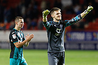 Freddie Woodman of Swansea City celebrates his team's win during the Sky Bet Championship match between Charlton Athletic and Swansea City at The Valley, London, England, UK. Wednesday 02 October 2019